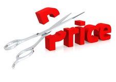 Forbici e prezzo Fotografia Stock