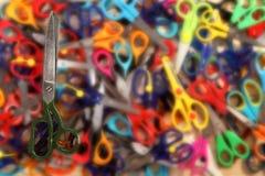 Forbici su fondo delle forbici Fotografia Stock Libera da Diritti