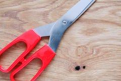 Forbici su legno Fotografia Stock Libera da Diritti