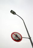 Forbid ride. It is the light and the forbidden ride sign Royalty Free Stock Photos