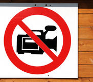 Forbidden. Sign, that forbids filming and other things royalty free stock photos