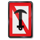 Forbidden for anchors and anchor Royalty Free Stock Images