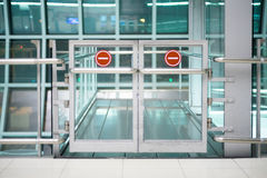 Forbidden area gate at the airport Stock Image