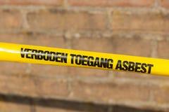 Forbidden asbestos Stock Images