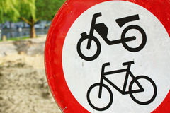 Forbidden for bikes Royalty Free Stock Image