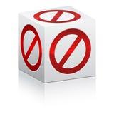 Forbidden box Royalty Free Stock Image