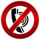 Forbidden call sign. Vector illustration stock illustration
