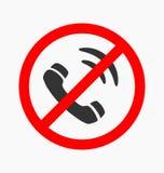 Forbidden call vector icon Stock Photography