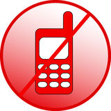 Forbidden calling. Stop mobile phone . vestor Royalty Free Stock Images