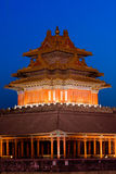 Forbidden City. The watch tower of the forbidden city Stock Photo