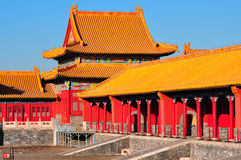 Forbidden City. Lying at the center of Beijing, the Forbidden City, called Gu Gong, in Chinese, was the imperial palace during the Ming and Qing dynasties. Now Royalty Free Stock Photo