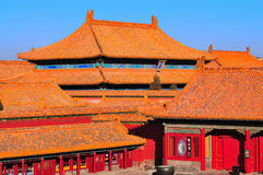 Forbidden City. Lying at the center of Beijing, the Forbidden City, called Gu Gong, in Chinese, was the imperial palace during the Ming and Qing dynasties. Now Stock Photos