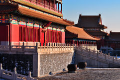 Forbidden City. Lying at the center of Beijing, the Forbidden City, called Gu Gong, in Chinese, was the imperial palace during the Ming and Qing dynasties. Now Royalty Free Stock Images