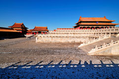 Forbidden City. Lying at the center of Beijing, the Forbidden City, called Gu Gong, in Chinese, was the imperial palace during the Ming and Qing dynasties. Now Royalty Free Stock Image