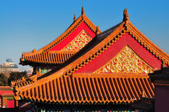 Forbidden City. Lying at the center of Beijing, the Forbidden City, called Gu Gong, in Chinese, was the imperial palace during the Ming and Qing dynasties. Now Stock Photo