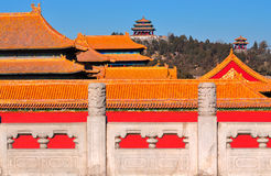 Forbidden City. Lying at the center of Beijing, the Forbidden City, called Gu Gong, in Chinese, was the imperial palace during the Ming and Qing dynasties. Now Stock Image
