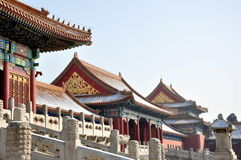 Forbidden City. Buildings in the Forbidden City in Bejing, China stock image