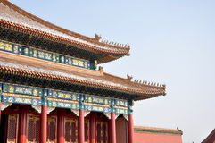 Forbidden City. In Bejing in China royalty free stock image