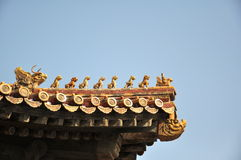 Forbidden City. In Bejing in China Royalty Free Stock Photo