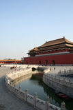Forbidden City. The main gate and river of Forbidden City Stock Photo