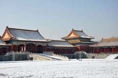 Forbidden City. Buildings in the Forbidden City in Beijing, China royalty free stock photo