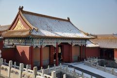 Forbidden City. A building in the Forbidden City in Beijing, China stock photos