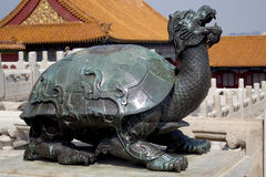 Forbidden City. Turtle statue of Forbidden City, Beijing China Royalty Free Stock Images