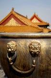 Forbidden City. Bronze urn of Forbidden City, Beijing China Royalty Free Stock Images