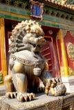 Forbidden City. Lion statue of Forbidden City, Beijing China Stock Photography