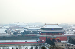 Forbidden city. The Forbidden city  in snow Royalty Free Stock Photography