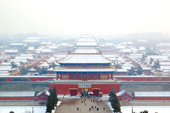 Forbidden city. The Forbidden city  in snow Stock Photography
