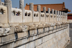 Forbidden City. Fence of Forbidden City in Beijing, China Royalty Free Stock Images