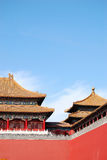 Forbidden city. The forbidden city, also called palace museum, world historic heritage, Beijing China. Shot near the front gate in a fine day Stock Images