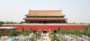 Forbidden City. Entrance, Forbidden City, Beijing, China Royalty Free Stock Image