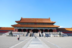 Forbidden city. A building in forbidden city Royalty Free Stock Photography