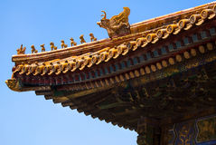 Forbidden city architecture. Architecture of the Forbidden City, Beijing, China Royalty Free Stock Image