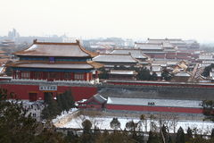 Forbidden city in beijing. Of china Royalty Free Stock Image