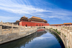 Forbidden city in beijing royalty free stock images