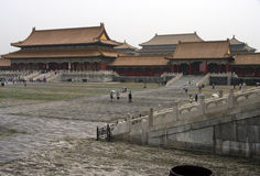 Forbidden city, Beijing, China. The Forbidden City was the Chinese imperial palace from the Ming Dynasty to the end of the Qing Dynasty Stock Photo