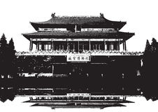 Forbidden City in Beijing China. An image showing the Forbidden City in Beijing China stock illustration
