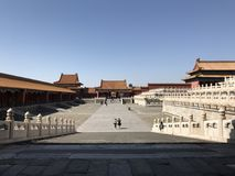 The Forbidden City in Beijing China. The Ancient Forbidden City in Beijing China stock photo