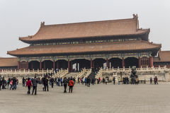 The Forbidden City. BEIJING, CHINA-26th MARCH 2014:The Forbidden City was once the home for the Emperor of china and his government, now a major tourist Royalty Free Stock Photos