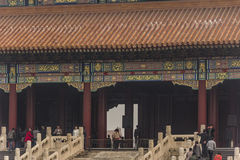 The Forbidden City. BEIJING, CHINA-26th MARCH 2014:The Forbidden City was once the home for the Emperor of china and his government, now a major tourist Royalty Free Stock Images