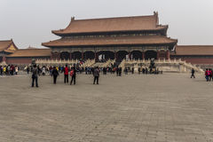 The Forbidden City. BEIJING, CHINA-26th MARCH 2014:The Forbidden City was once the home for the Emperor of china and his government, now a major tourist Stock Photos