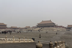 The Forbidden City. BEIJING, CHINA-26th MARCH 2014:The Forbidden City was once the home for the Emperor of china and his government, now a major tourist Stock Photo