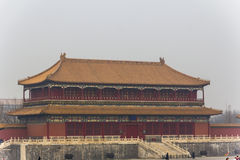 The Forbidden City. BEIJING, CHINA-26th MARCH 2014:The Forbidden City was once the home for the Emperor of china and his government, now a major tourist Royalty Free Stock Photo