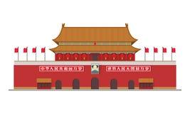 Forbidden City, Beijing, China. Vector illustration. Forbidden City, Beijing, China. Isolated on white background vector illustration Royalty Free Stock Photo