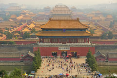 Forbidden City. Beijing. China. View of Forbidden City from Beijing. China Royalty Free Stock Photography