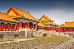 Forbidden City, Beijing, China royalty free stock image