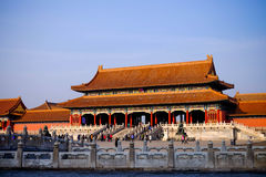 Forbidden City Beijing China in winter 2015 Royalty Free Stock Photography